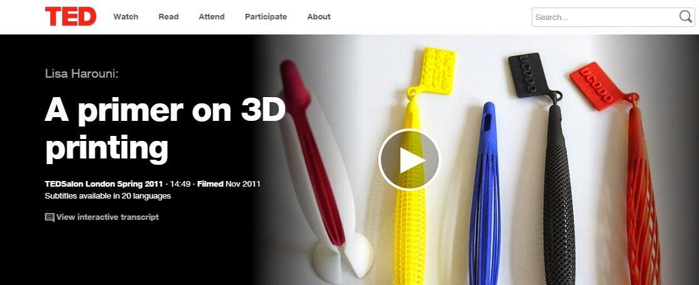 Lisa Harouni: A primer on 3D printing